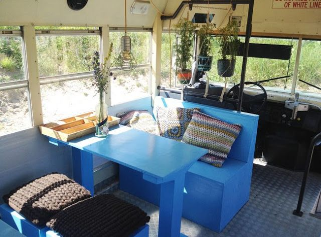Sleep in an authentic american schoolbus, in The Netherlands