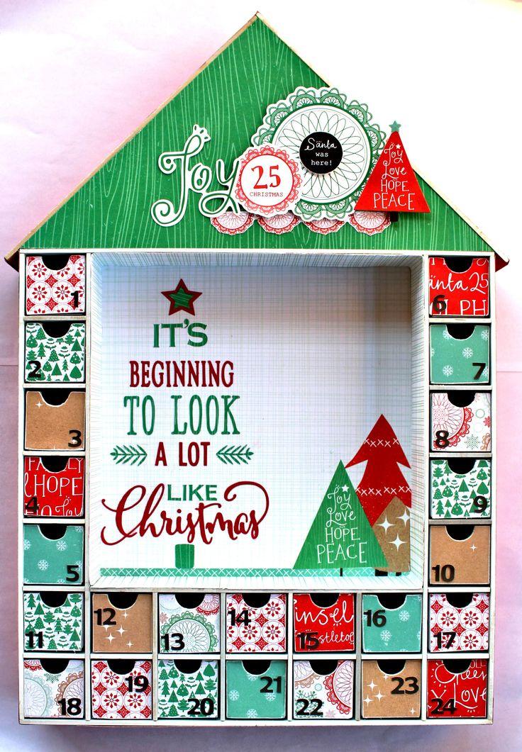 Christmas Advent House - Kaisercaft Holly Jolly - Scrapbook.com