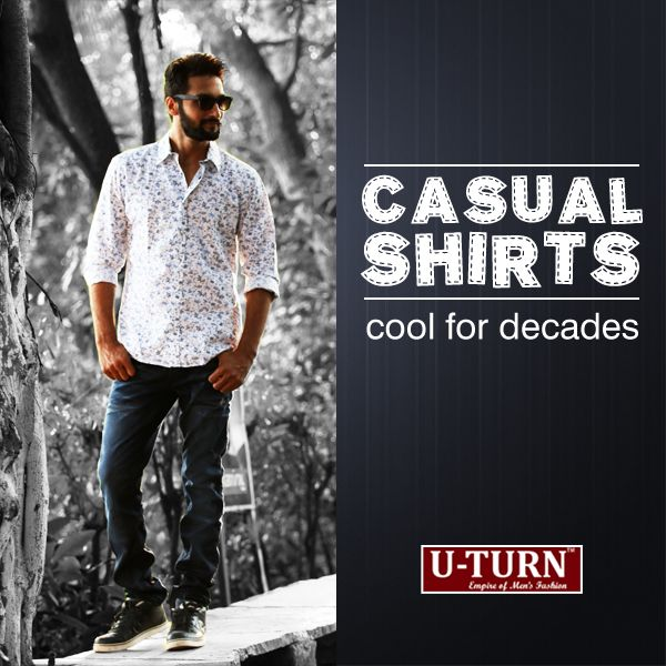 Smart #casuals like a printed white shirt and with a cool shade of gray trousers are apt for Weekend.