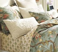duvet in, sheets outAmydav Bedrooms, Invitations Beds, Guest Bedrooms, Duvet Covers, Master Bedrooms, Blue Fans, Arianne Organic, Amy Dav Bedrooms, Pottery Barns
