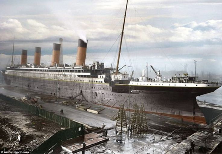 New life has been breathed into The Titanic by photo editor Anton Logvynenko who painstakingly coloured in black and white images of the doomed ship