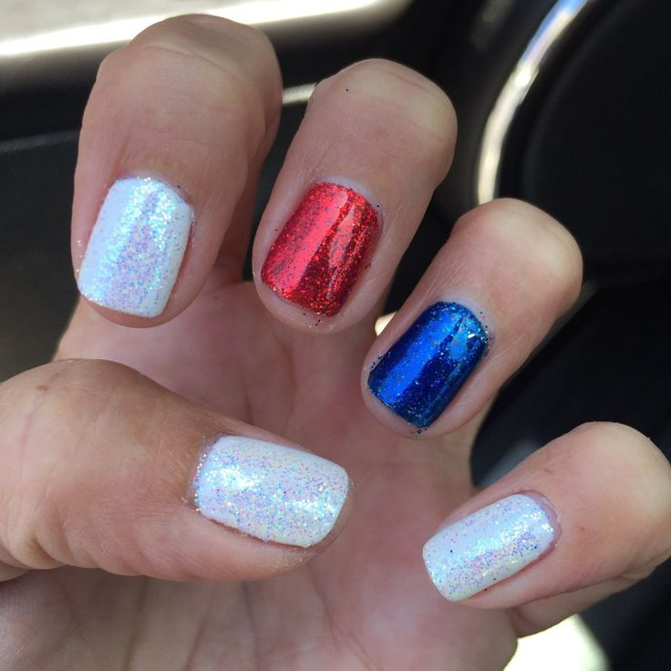 173 best nails images on pinterest nail design gel nails and cute fourth of july nails solutioingenieria Gallery
