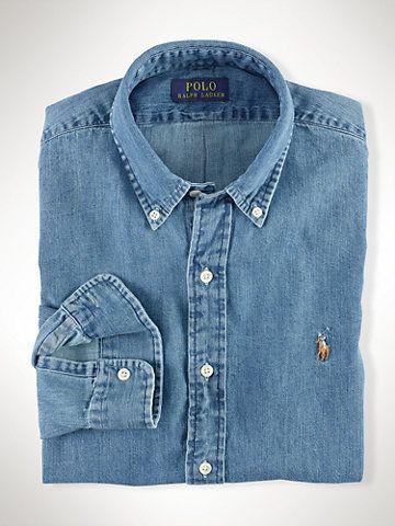 Chemise sport denim - Chemises en Jeans Chemises décontractées - Ralph  Lauren France   CLOTHING x ACCESSORIES en 2019   Pinterest ee820b99c20