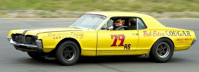"Schedule for Historic Trans Am Michael Eisenberg - Northridge, California 1967 Mercury Cougar # 77/79 -""The Bob Estes Cougar"" - Originally driven by Mark Waco"