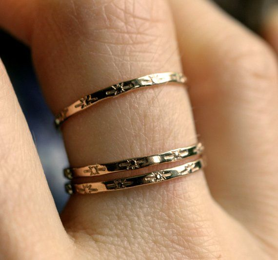 Tiny Star Ring 14k Gold Ring 10k Gold Sterling Star Band Dainty Gold Ring Solid Gold Delicate Band Stacking Ring Skinny Ring Starlet Band Dainty Gold Rings Solid Gold Rings Skinny