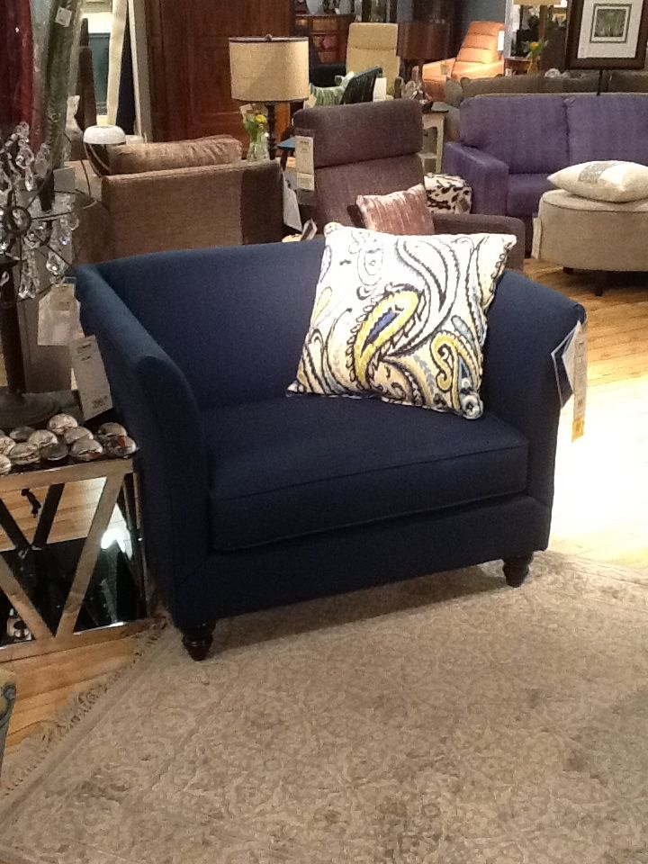 navy blue chair and a half this has a matching sofa and loveseat on