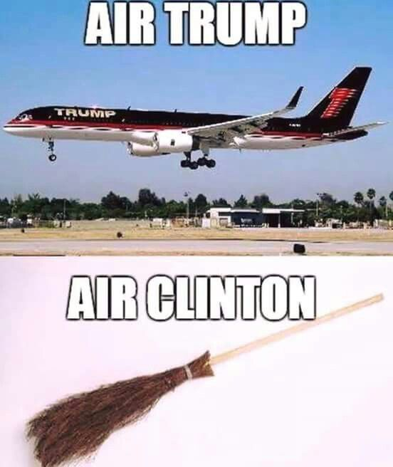 Air Trump . . . Air Clinton . . . | Donald Trump/Hillary Clinton