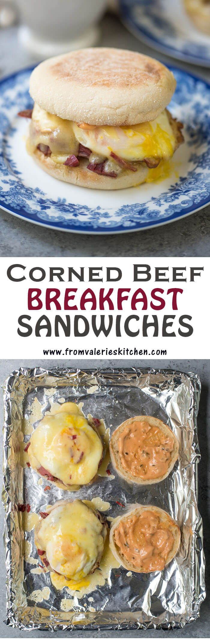 These Corned Beef Breakfast Sandwiches are a delicious way to make use of any leftover corned beef you may have on your hands after St. Patrick's Day.