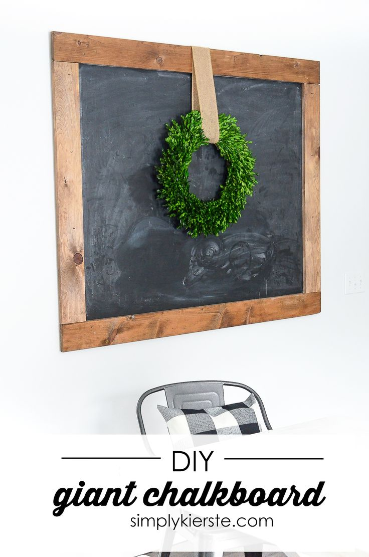 This adorable Giant Chalkboard is the very definition of farmhouse style, and it...