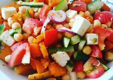 Roasted butternut, feta and chickpeas Salad | Mustard Seed Kitchen
