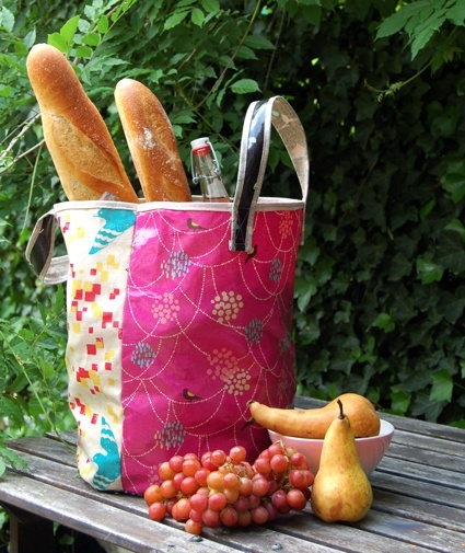 oilcloth tote peppermintcool