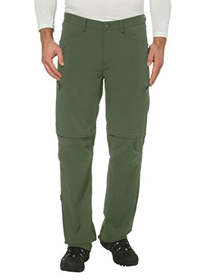 VAUDE - Pantaloni da uomo Men' s Yaki Zip Off Pants, Uomo, Hose Men's Yaki ZO Pants, Cedar Wood, L