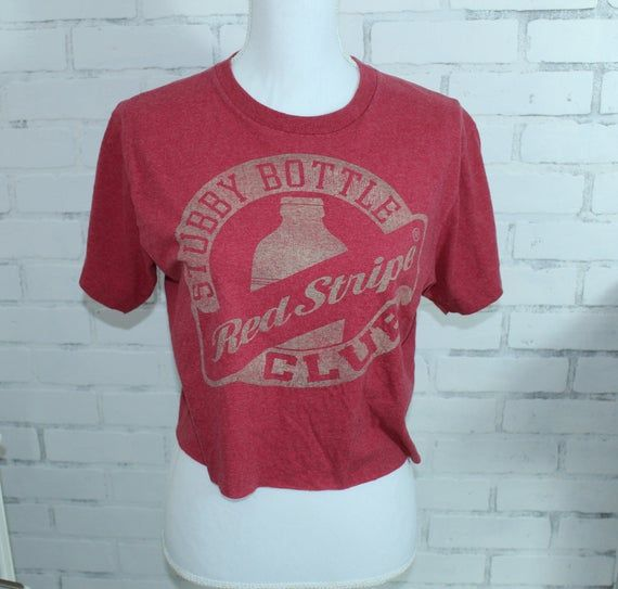 Red Stripe Beer Club Vintage Graphic T Shirt Rare One Of A Kind Red Stripe Club Shirts Vintage Shirts