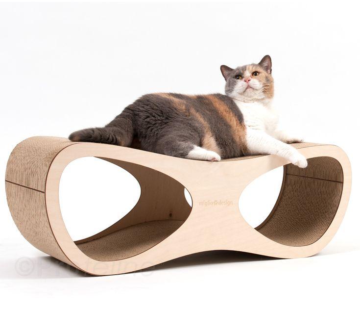 kratzm bel doppio grande von miglio design wird nicht nur ihre katze begeistern sondern auch. Black Bedroom Furniture Sets. Home Design Ideas