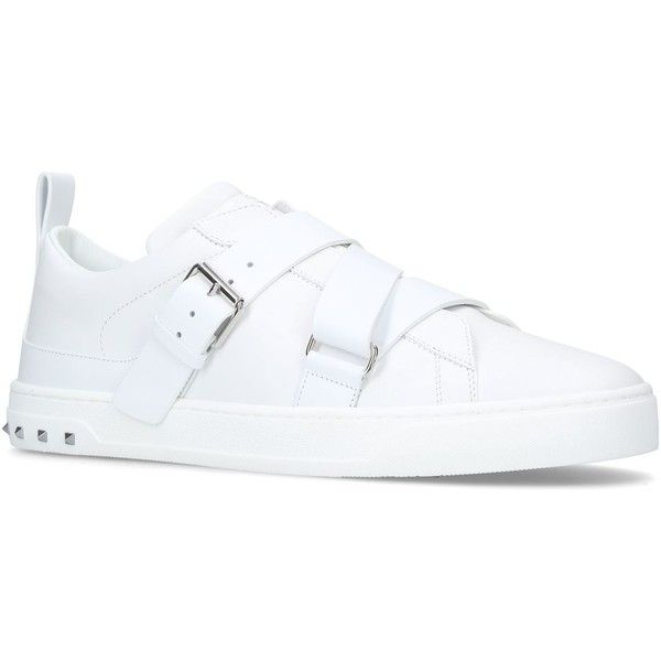 Valentino Garavani V Punk Sneakers ($740) ❤ liked on Polyvore featuring men's fashion, men's shoes, men's sneakers, valentino mens sneakers, mens leather shoes, mens velcro strap sneakers, mens leather sneakers and mens monk strap shoes