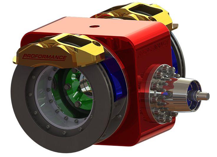 Inboard Brakes apply 200 Braking Force via Portal Hubs