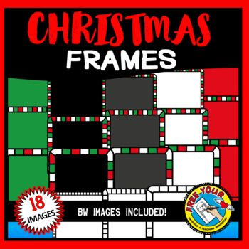 Christmas clipart frames and borders (square shape) TEACHERS PAY