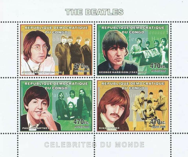 Mocambique stamp - The Beatles