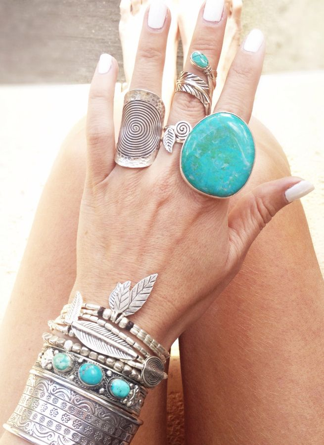 Silver  Turquoise jewelry #gypsystyle My daughter called me a gypsy today.