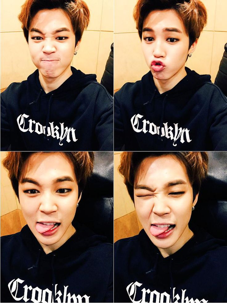 "Imagine: Jimin sending you these pics saying, ""See, aren't I handsome???"" <3"