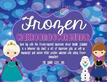 LET IT GO! Ice Princess Classroom BUNDLE!...Frozen Classroom Decor! ADORABLE!