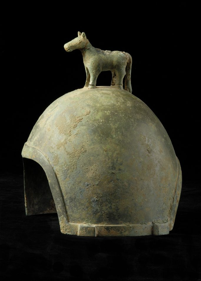 Scythian Bronze Helmet. Origin: Russia. Circa: 600 BC to 400 BC.