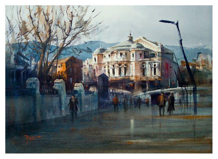""""""" Teatro Arriaga"""" Watercolour"""