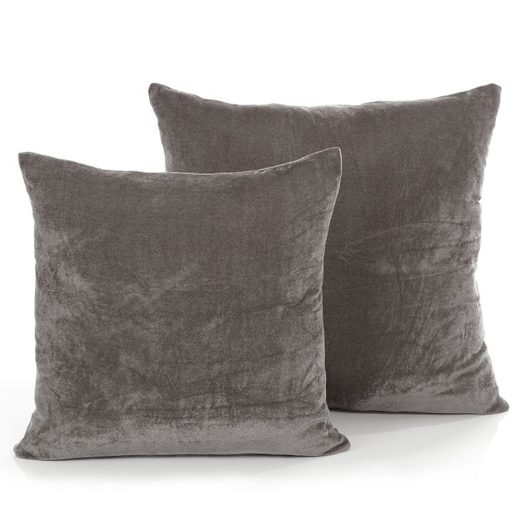 Luxury Grey Velvet Cushion - Soft Modern Scatter Large & Small Cushion Covers in Home, Furniture & DIY, Home Decor, Cushions | eBay