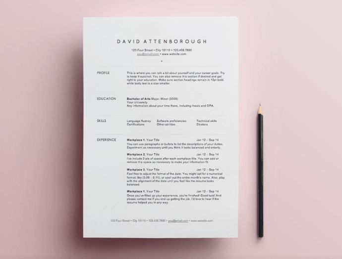 10 Free Resume Templates | Sunday Chapter | Travel and Lifestyle blog