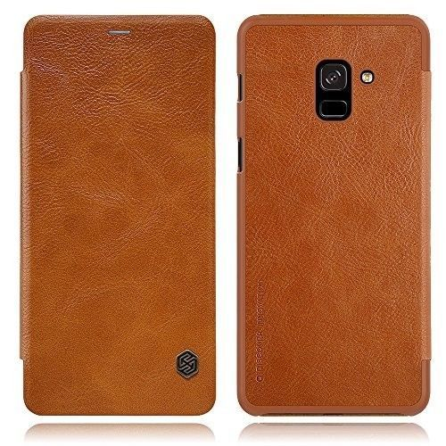 Samsung Galaxy A8 Plus Leather Case Flip Cover Smartphone Full Body Protection #CellPhoneAccessories