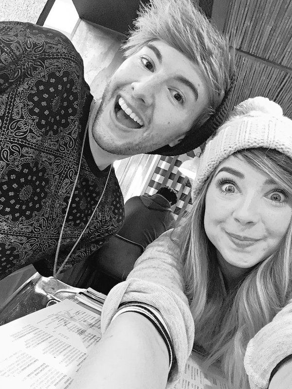 "zoesuggdaily: "" ""Zoella: Lunch with @MarkFerris2O16 "" """