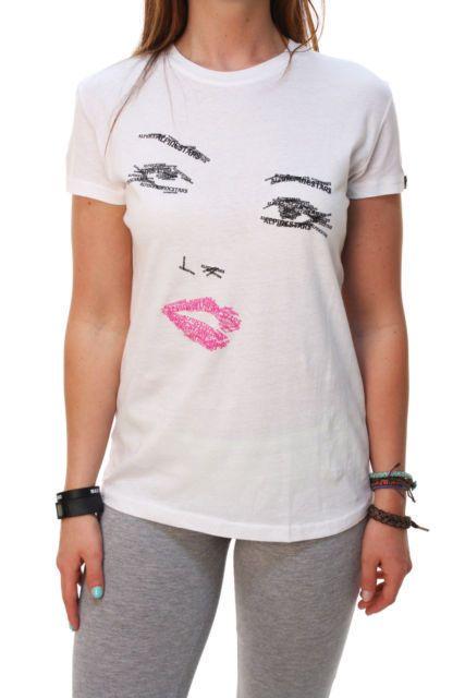 ALPINESTARS Women NWT White Kate Skinny T Shirt Top Graphic Tee Large L #ALPINESTARS #GraphicTee