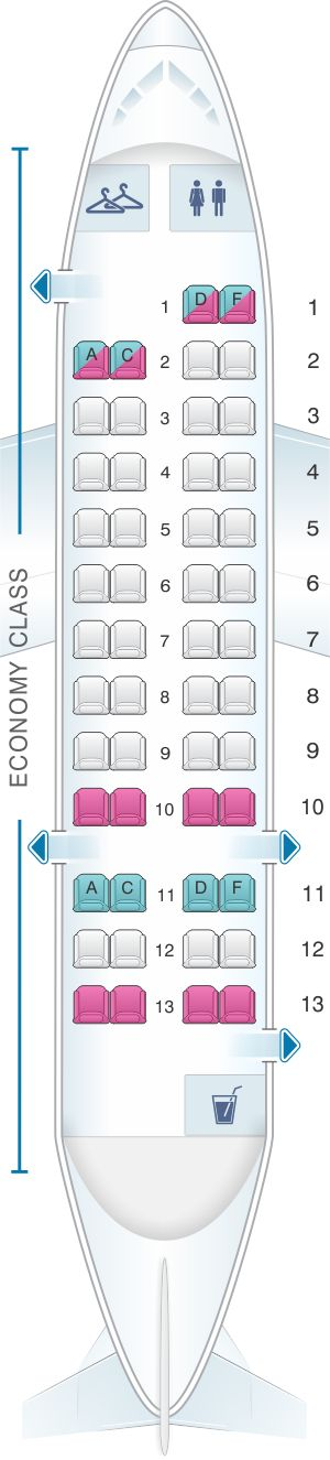 Seat Map American Airlines Dash 8 300