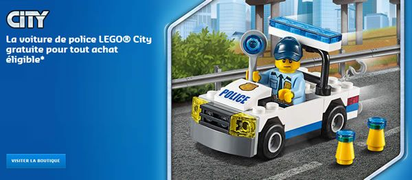 Sur le Shop@Home : Polybag CITY 30352 Police Car offert: Si vous aimez les produits LEGO de la gamme CITY, vous avez jusqu'au 28… #LEGO