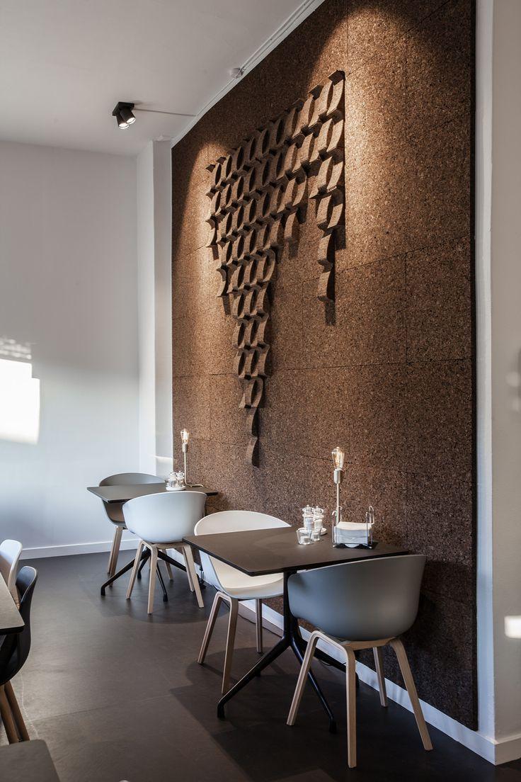 Akustisk kork væg, acoustic cork wall, væg dekoration, wall decoration, cork, kork, wall covering, væg beklædning