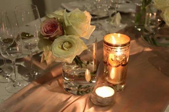 candele e rose..