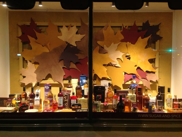 Autumnal tones for my front window display. Sept 2014