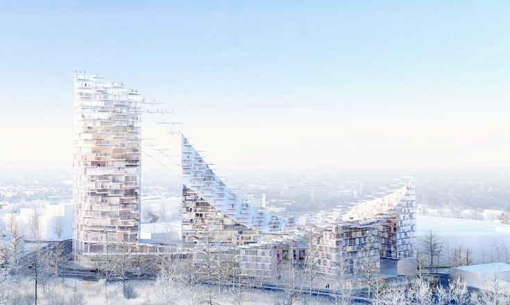 Sou Fujimoto Architects and AWAA have been selected as the winners of an international competition for the design of Delta Tower on the outskirts of Brussels.