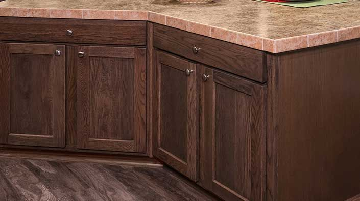 Shaker-Nutmeg cabinets