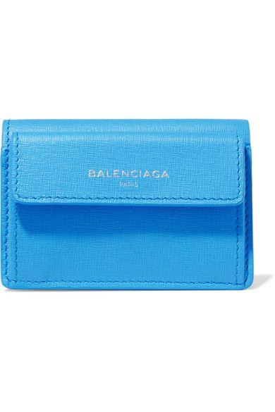 Balenciaga - Textured-leather Wallet - Azure - one size