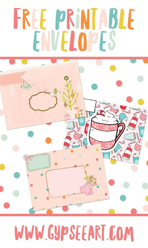 Wow, these printable envelopes are really easy to make and they are free! Grab yours today! by gypseeart