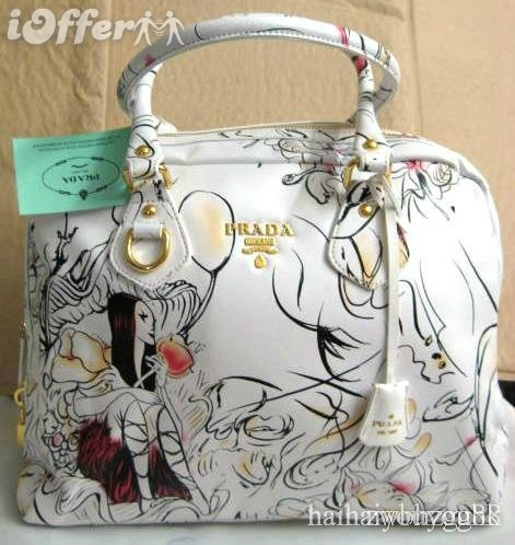 #Prada Fairies White Bowling Handbag