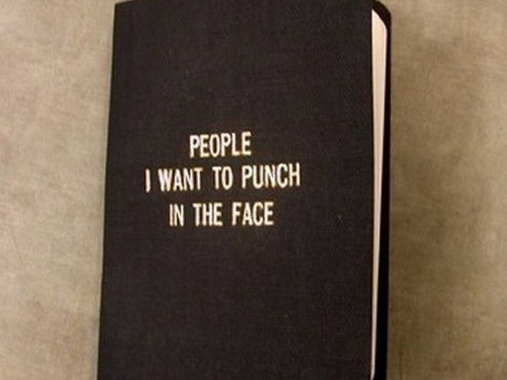 "If You Are Prone To Anger Issues – You Need This ""People I Want To Punch In The Face Book!"""