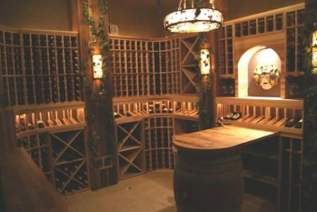 Custom Wine Cellars Chicago Wine Cellar Lighting. The lighting effects are really fantastic. Get your own wine cellar project done by Wine Cellar SPecialists. Go here http://www.winecellarspec.com/contact/