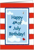 4th of July Birthday Cute Butterflies Flag Greeting Card Card by Greeting Card Universe. $3.00. 5 x 7 inch premium quality folded paper greeting card. Find Fourth of July cards for everyone on your list at Greeting Card Universe. Make the occasion a memorable one by sending a custom Fourth of July card. Allow Greeting Card Universe to handle all your Fourth of July card needs this year. This paper card includes the following themes: happy Birthday, fourth of july, and independe...