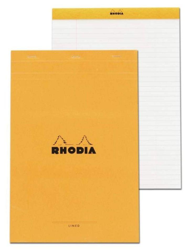 Rhodia Staplebound - Notepad - Orange - Lined with Margin - 8.25 x 12.5