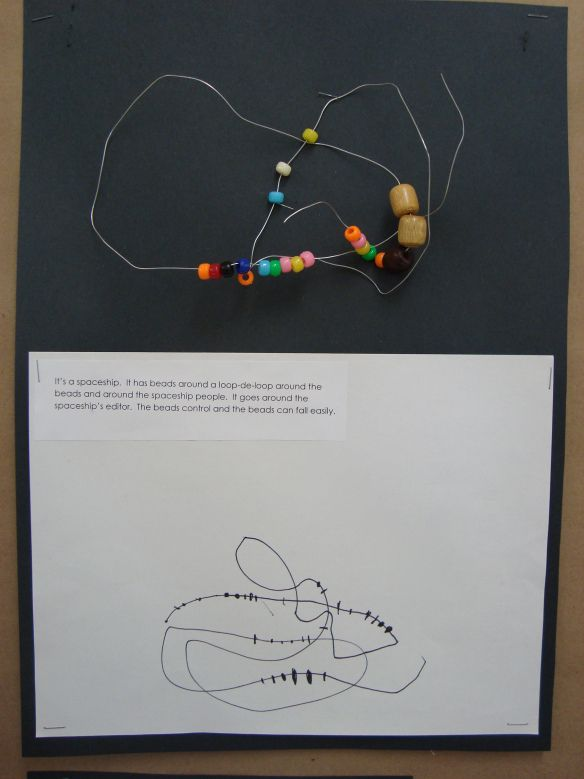 Bead and wire construction, followed by drawing ...