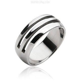 Men's 316L Surgical Steel Ring #mspiercing #piercings