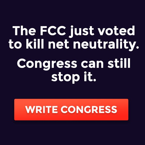 It might seem like a long shot, but congress could still stop this. I don't want to live in a world where what I can see online is limited by filters and cost. Don't let America become some jank dystopian novel. Email Congress.