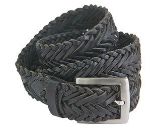 Original Gift Company Braided Leather Belt, Black, Size X Large, Leather Hand-braided, full grain leather belt fastens at any point and comes in Brown or Black with a silver-tone buckle. (Barcode EAN=5053335615208) http://www.MightGet.com/february-2017-2/original-gift-company-braided-leather-belt-black-size-x-large-leather.asp